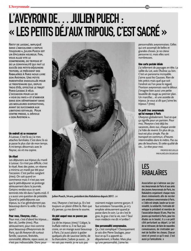Julien Puech, épicurien, Rabalaïre et...aveyronnais